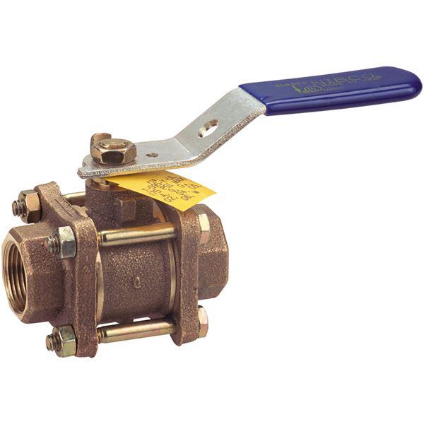 T y ul three piece bronze ball valve full port