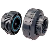 EPDM Threaded Union FPT x FPT - PVC Schedule 80, 4533E-3-3