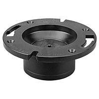 Closet Flange with Knockout Test Plug Hub - ABS DWV, 5855