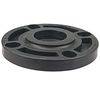 Blind Flange - Black Polypropylene Schedule 80, One-Piece Webbed Design, 6119-W