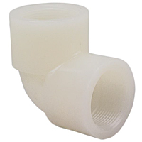 Thread 90° Elbow FPT x FPT - Chem-Pure® Natural Polypropylene Schedule 80, 6207-3-3