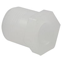 Flush Thread Reducer Bushing MPT x FPT - Chem-Pure® Natural Polypropylene Schedule 80, 6218-3-4