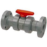 Ball Valve - Flanged, Tru-Bloc® True Union, Corzan® CPVC Schedule 80, EPDM, F51TB-E