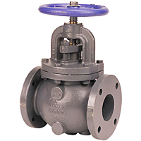 Globe Valve - Iron, Bronze Mounted Trim, F-718-B