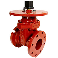 Gate Valve - Ductile Iron, Fire Protection, Flanged x Mechanical Joint, FM-609-RWS