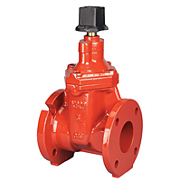 Gate Valve - Ductile Iron, Irrigation, Resilient Wedge, Square Operating Nut, FM-619-RWS-SON
