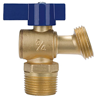 Boiler Drain - Quarter-Turn, Cup or MIP Threads to Hose, QT74X