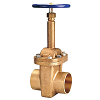 S-134 Large Diameter Gate Valve – Bronze, Rising Stem, Bolted Bonnet, Solder
