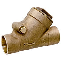 S-413-Y-LF Check Valve – Lead-Free*, PTFE Seat Disc, Solder