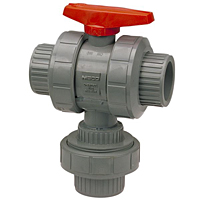 Ball Valve - Threaded, True Union, 3-Way 2-Position (Diverter), Corzan® CPVC Schedule 80, EPDM, T51D2-E