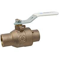 S-585-66-LF Two-Piece Bronze Ball Valve – Lead-Free*, Full Port, Stainless Steel Trim, Solder