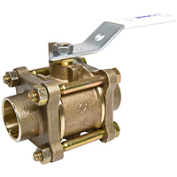 S-595-Y-LF Ball Valve – Lead-Free*, Three-Piece, Full Port, Solder