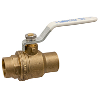 S-FP-600A-LF Ball Valve – Lead-Free* Brass, Two-Piece, Full Port, C x C