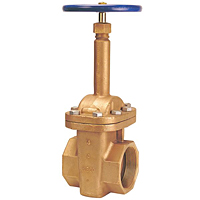 T-134 Large Diameter Gate Valve – Bronze, Rising Stem, Bolted Bonnet, Threaded