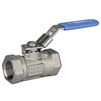 One-Piece Stainless Steel Ball Valve - Reduced Port, Fire Safe, T-560-S6-R-66-FS-LL