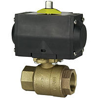 Two-Piece Bronze Ball Valve - ISO Mount and Actuator, TM-585-70-66-AP