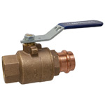 Ball Valve – Bronze, 250 PSI, Full Port, Thread x Press Ends, TPC-585-70