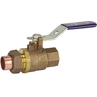 Two-Piece Bronze Ball Valve - Threaded x Solder, Single Union End, TS-585-70-SU