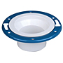 Adjustable Closet Flange with Plastic Coated Steel Flange Spg - PVC DWV, 4851-2-A