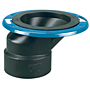Offset Adjustable Closet Flange with Plastic Coated Steel Flange Hub - ABS DWV, 5848-A