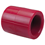 Thread Coupling FPT x FPT - Kynar® Red PVDF Schedule 80, 6501-3-3
