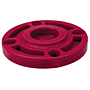 Blind Flange - Kynar® Red PVDF Schedule 80, One-Piece Webbed Design, 6519-W
