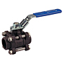Three-Piece Carbon Steel Ball Valve - Full Port, Stainless Steel Trim, Socket Weld, K-595-CS-R-66-LL