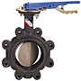 Butterfly Valve - Ductile Iron, 100 PSI, Actuated, Buna-N Seat, LD-L100