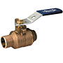 Two-Piece Bronze Ball Valve - Stainless Steel Trim, Solder Ends, S-580-70-66