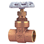 Gate Valve - Brass, Full Port, Solder Ends, SI-8