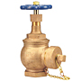 Angle Valve - Bronze, Fire Protection, Cap and Chain, T-331-HC