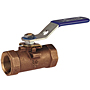 One-Piece Bronze Ball Valve - Reinforced PTFE Seat, Stainless Steel Trim, T-560-BR-R-66