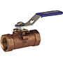 One-Piece Bronze Ball Valve -PTFE Seat, Bronze Trim, T-560-BR-Y-20