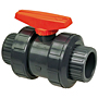 Ball Valve - Model C, Threaded, Tru-Bloc® True Union, PVC Schedule 80, EPDM, T45TB-E