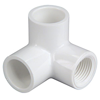 90° Elbow with Side Outlet Slip x Slip x FIPT - PVC Schedule 40, 4607-9-3