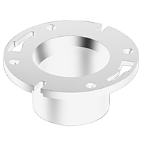 Flush Closet Flange without Pipe Stop - PVC DWV, 4853-NS