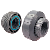 EPDM Threaded Union FPT x FPT - Corzan® CPVC Schedule 80, 5133E-3-3