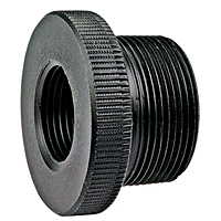 Flush Thread Reducer Bushing MPT x FPT - Black Polypropylene Schedule 80, 6118-3-4