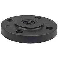 Blind Flange - Black Polypropylene Schedule 80, One-Piece Solid Design, 6119-H
