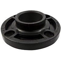 Socket Flange - Black Polypropylene Schedule 80, One-Piece Webbed Design, 6151-W