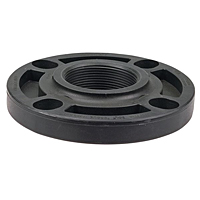 Thread Flange FPT- Black Polypropylene Schedule 80, One-Piece Webbed Design, 6151-W-3