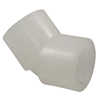Thread 45° Elbow FPT x FPT - Chem-Pure® Natural Polypropylene Schedule 80, 6206-3-3