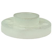 Socket Flange - Chem-Pure® Natural Polypropylene Schedule 80, One-Piece Solid Design, 6251-H