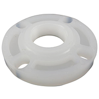 Thread Flange - Chem-Pure® Natural Polypropylene Schedule 80, One-Piece Webbed Design, 6251-W-3