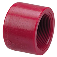 Thread Cap FPT - Kynar® Red PVDF Schedule 80, 6517-3