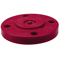 Blind Flange - Kynar® Red PVDF Schedule 80, One-Piece Solid Design, 6519-H
