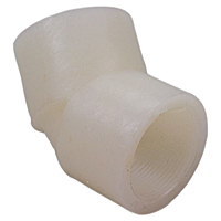 Thread 45° Elbow FPT x FPT - Kynar® Natural PVDF Schedule 80, 6606-3-3