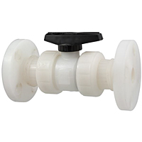 Ball Valve - Model C, Flanged, Tru-Bloc® True Union, Kynar® Natural PVDF Schedule 80, FKM, F66TB-V