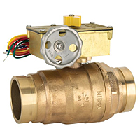 Two-Piece Bronze Ball Valve - Fire Protection, Grooved, KG-505-W-8