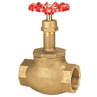 Globe Valve - Bronze, Fire Protection, Buna-N Seat Disc, KT-211-W-UL